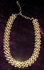Chic  Kramer faux pearls and aurora rhinestone necklace