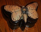 Large realistic ceramic butterfly moth box