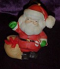 Porcelain Santa claus novelty bell ornament