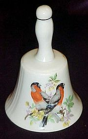 Vintage Norcrest porcelain bell with birds