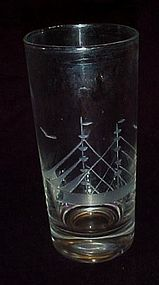Crystal cut clipper sailing ship tumbler