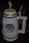 Avon God Bless America lady liberty beer stein.