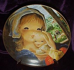 Pastoral Mother and child plate by Juan Ferrandiz