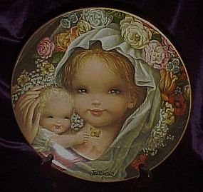 Schmid Floral Mother and Child plate by Juan Ferrandiz