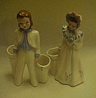 Florence girl and boy vases or planters Perfect pair!!