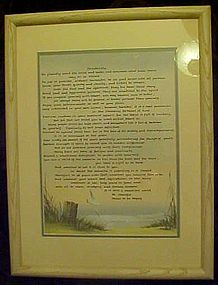 Framed and matted Desiderada  with ocean theme