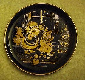 Lindner Kueps miniature Cobalt plate Joy of Christmas