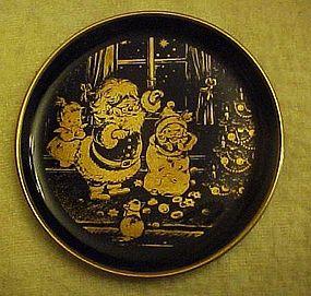 Lindner Kueps miniature Cobalt plate Joy of Christmas