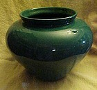 Large  forest green Haeger pottery vase #4328