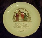 Holly Hobbie Christmas 1974 collector plate
