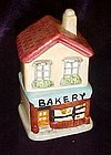 Two story ceramic Bakery salt and pepper shakers