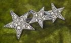 Sparkling triple star rhinestone pin