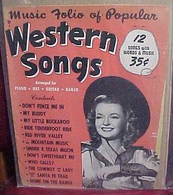 Music Folio of popular Western Songs Dale Evans 1954