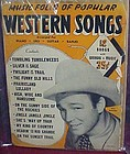 Music Folio of Popular Western songs Roy Rogers cover