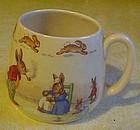 Early Royal Doulton Bunnykins mug by Barbara Vernon
