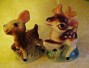 Vintage deer salt and pepper shakers JAPAN