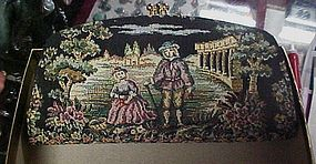 Vintage Baronet needlepoint tapestry clutch  in box