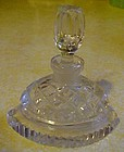 Hand cut lead crystal perfume bottle with stopper