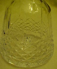 Cut lead crystal liquor decanter