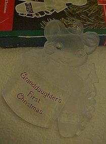 Hallmark ornament Grandaughters first  Christmas 1990