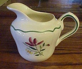 Old Longchamp France Tulip creamer green band