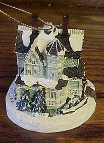 Thomas Kinkade Victorian Christmas ll lighted ornament