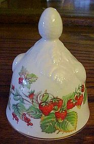 Pretty Strawberrries bell Chelsea bone china England