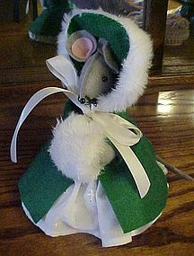 Holiday felt and fabric mouse Cute for holiday decor