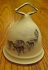 Porcelain bell Polar bears and sled dogs made in Canada