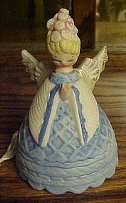 Lefton  porcelain praying angel bell ornament