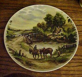 LC van Hunnick river scene decorative plate