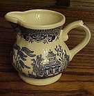 Churchill England georgian shape blue willow creamer