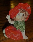 Poppy flower child  porcelain figurine limited edition