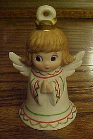 Lefton porcelain angel bell ornament