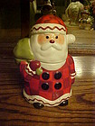 Hallmark Santa  with toy sack cookie treat jar