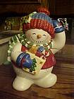 Studio Nova Festive Frosty Snowman cookie jar