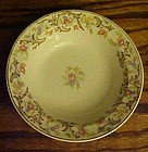 Taylor Smith Taylor sauce bowl floral center tan scroll