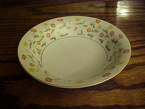 RC Noritake N1462 soup bowl yellow and orange flowers