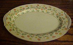 RC Noritake N1462 oval platter yellow and orange flower