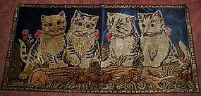 Vintage tapestry of four kittens