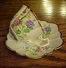 Rosina bone china cup and saucer with flowers and gold