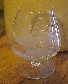Toscany Clipper ship Brandy glass 4 5/8""