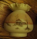 Fenton satin custard country scene replacement shade