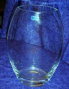 Large Crystal Legends Pumpkin seed Vase by Godinger