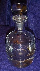Large heavy vintage crystal bar decanter