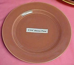 """HLC rose coral Harlequin luncheon plate 9 1/4"""""""