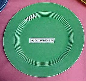"""HLC Harlequin luncheon plate hard to find green  9 1/4"""""""