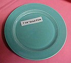 HLC Harlequin turquoise salad plate 7 1/4""
