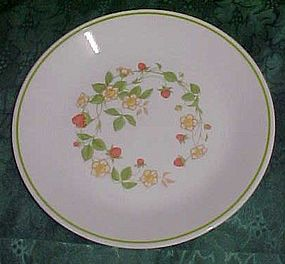Corning Correlle Strawberry Sundae Salad plate
