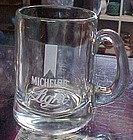 Anhauser Busch etched glass Michelob Light beer stein